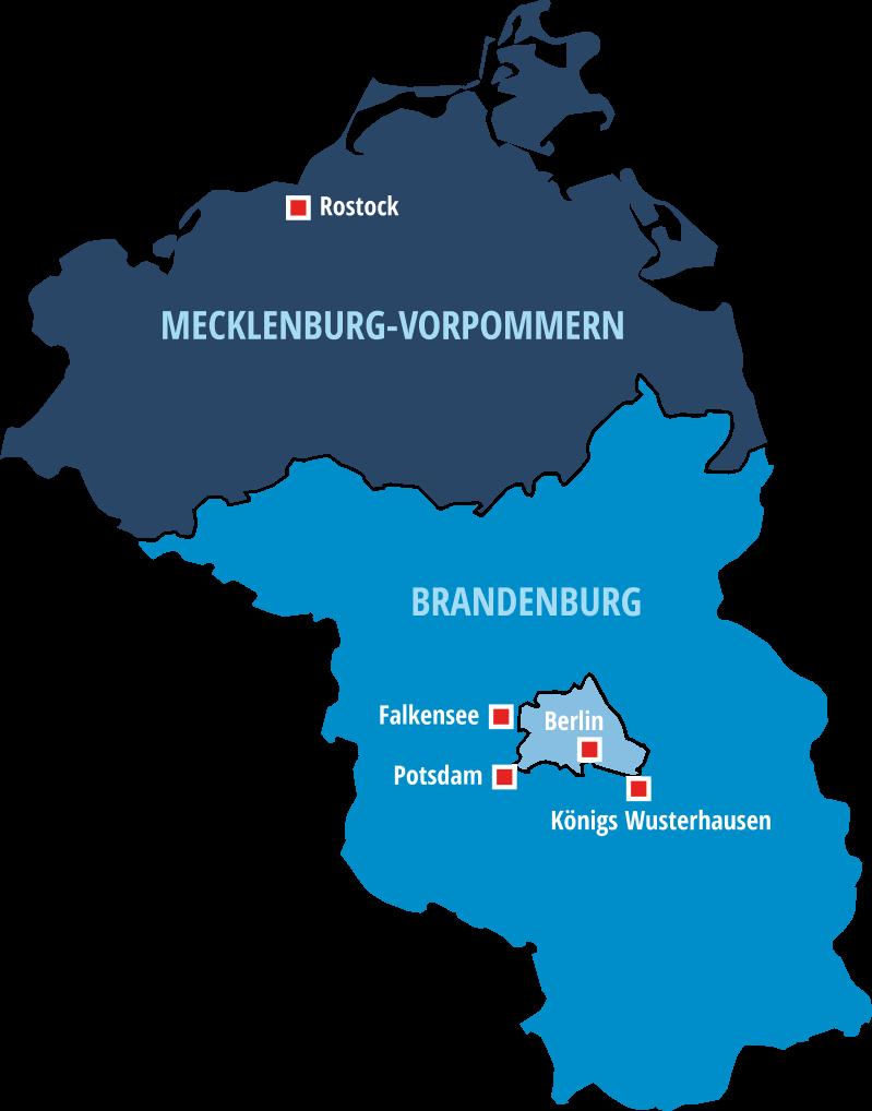 FAM Hausmeister Dienste GmbH Standorte in Berlin, Brandenburg und Mecklenburg-Vorpommern