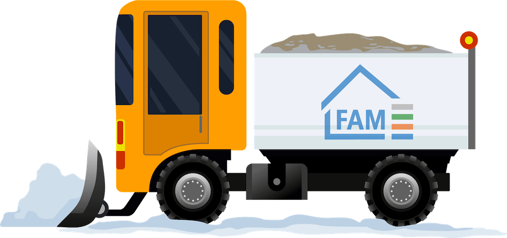 Illustration FAM Winterdienst Fahrzeug